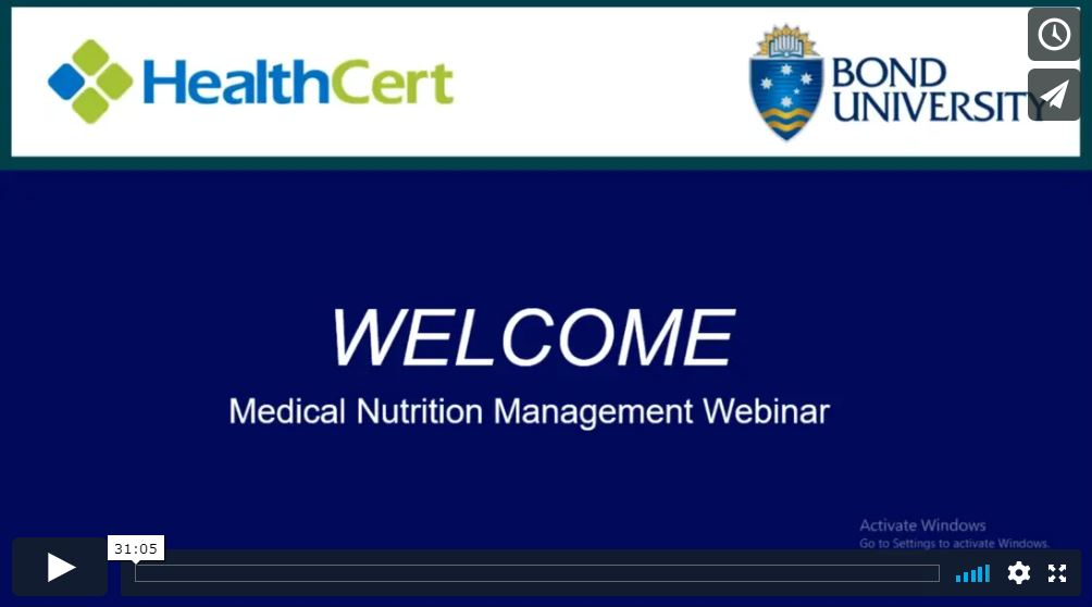 medical nutrition management webinar